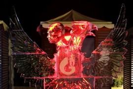 Ice Kingdom or ice sculpture festival, subtitled Polar Zoo!