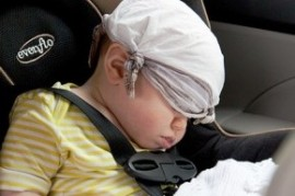 As to the safety of children in the car? Suitable establishment, dishes and accessories