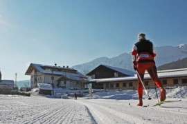 Nordic skiing in the Alps