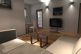Storage space as well as decorative elements in the living room give way to new technologies