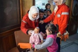 Czech toy from humanitarian collections reach children in Aleppo