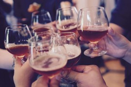 With alcohol carefully - higher amounts cause cancer