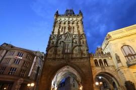 Night Prague Towers