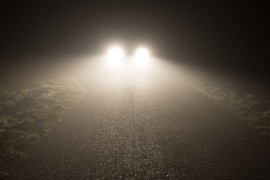 The principles of safe fog driving? See, be seen and hurry!